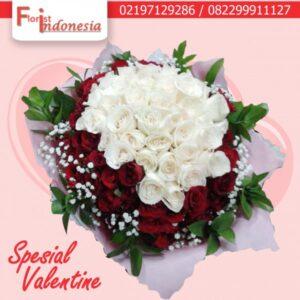 toko bunga hand bouquet mawar valentine di jakarta