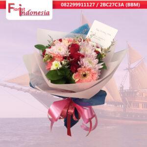 jual bunga hand bouquet di palembang trade center | hm-01
