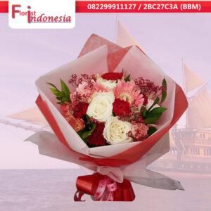 beli bunga hand bouquet di palembang | hm-02