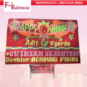 jual bunga papan Happy wedding di palembang | sbw5-04-300x300