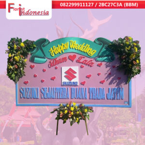 toko bunga papan happy wedding di surabaya |  jnd-013