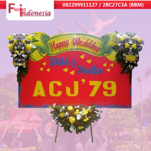 jual bunga papan happy wedding di surabaya | jnd-014