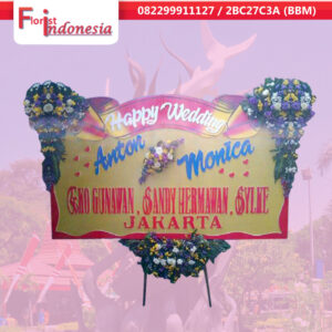 beli bunga happy wedding di surabaya | jnd-017