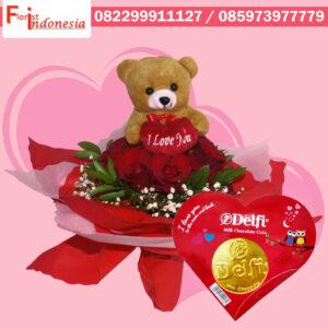Jual  Bunga Bouquet Mawar Valentine  di Bekasi |  https://www.floristindonesia.florist/