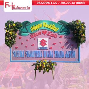 Jual Bunga Papan Happy Wedding  Di Surabaya  Utara | https://www.floristindonesia.florist/