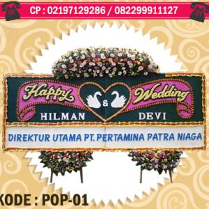 toko bunga papan happy wedding di depok | https://www.floristindonesia.florist/