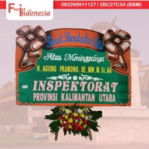 jual karangan bunga papan duka cita di kota samarinda kalimantan timur TSM - 02 florist indonesia