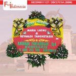 toko karangan bunga papan happy wedding di samarinda SMR - 13 florist indonesia