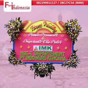 jual bunga papan happy wedding  di malang  | https://www.floristindonesia.florist/