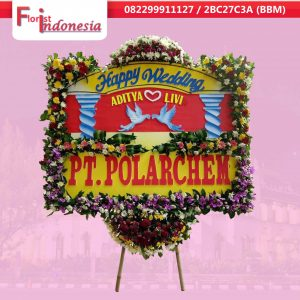jual bunga papan happy wedding  di semarang | https://www.floristindonesia.florist/