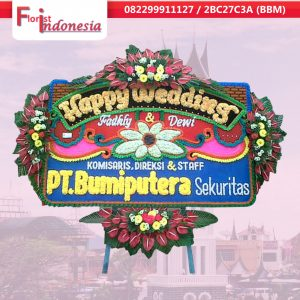 toko bunga papan happy wedding  di padang  | https://www.floristindonesia.florist/