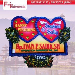 toko bunga papan happy wedding di bali | https://www.floristindonesia.florist/