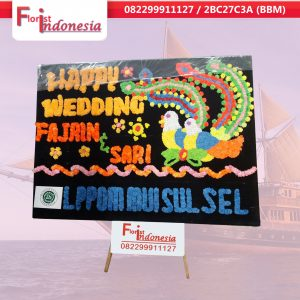toko papan happy wedding  di makassar | https://www.floristindonesia.florist/