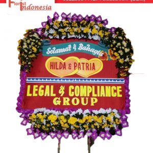 jual bunga papan wedding di solo florist indonesia