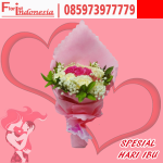 kado spesial hari ibu handbouquet bunga mawar