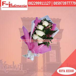 Buket Bunga Mawar Putih Kediri