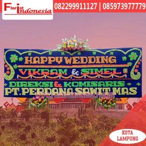 Bunga Papan Happy Wedding Lampung LMP-005