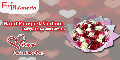 banner hand bouquet medium valentine fi