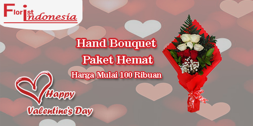 banner hand bouquet murah valentine fi