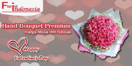 banner hand bouquet premium valentine fi
