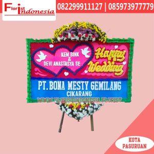 Karangan Bunga Papan Wedding Jakarta FJKTW-001