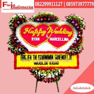 Karangan Bunga Papan Wedding Jakarta FJKTW-011