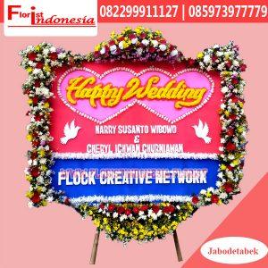 Karangan Bunga Papan Wedding Jakarta Pusat FJKTW-017