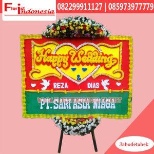 Karangan Bunga Papan Wedding Jakarta Selatan FJKTW-007