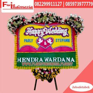 Karangan Bunga Papan Wedding Jakarta Utara FJKTW-009