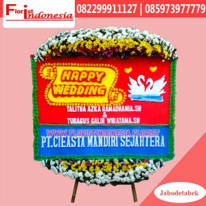 Karangan Bunga Papan Wedding Tangerang FJKTW-012