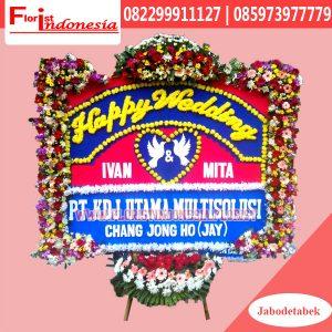 Karangan Bunga Papan Wedding Tangerang FJKTW-015