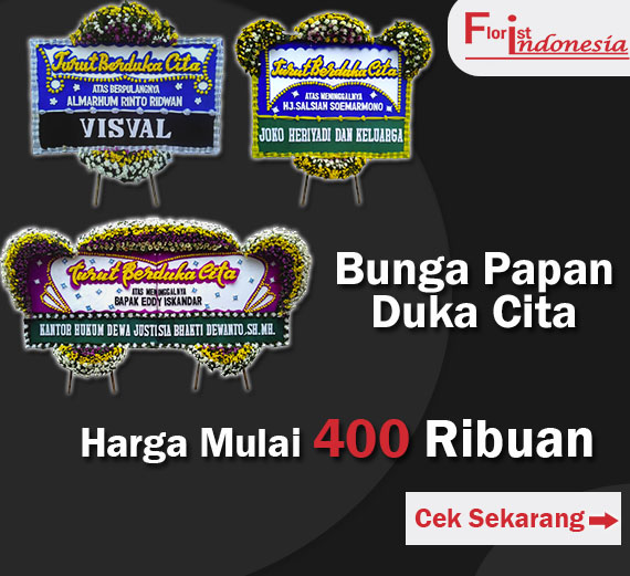 banner duka cita florist indonesia