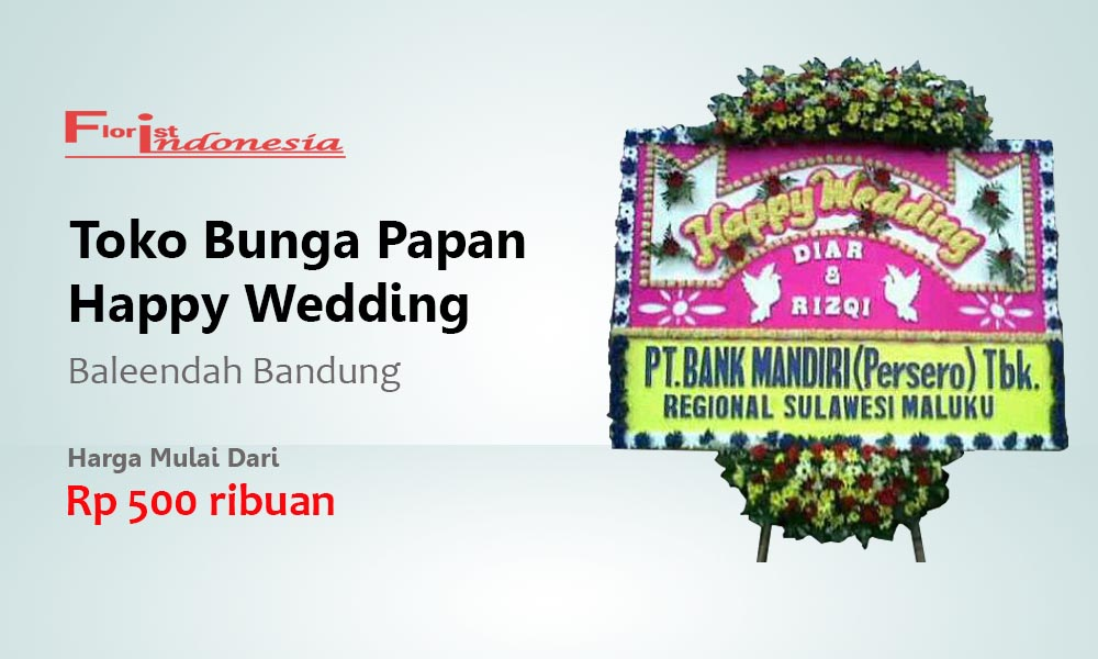 Toko Bunga Papan Wedding Baleendah Bandung