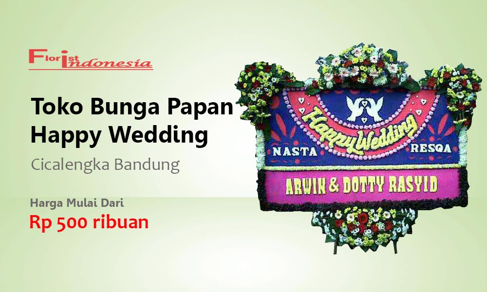 Toko Bunga Papan Wedding Cicalengka Bandung